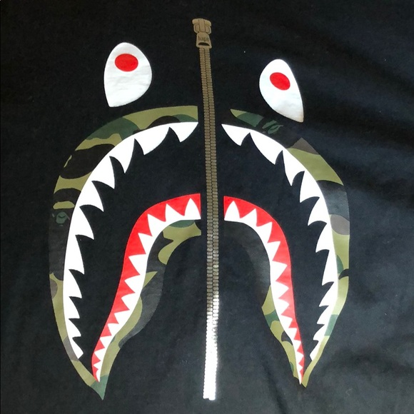 a4f9477d Bape Shirts | Shark Mouth Shirt | Poshmark